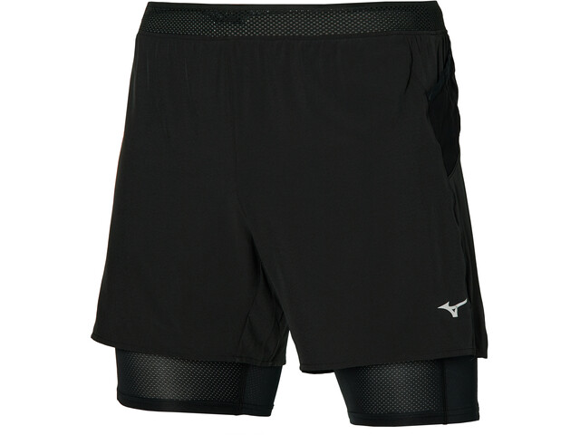 Mizuno ER 5.5 2in1 Shorts Men, czarny